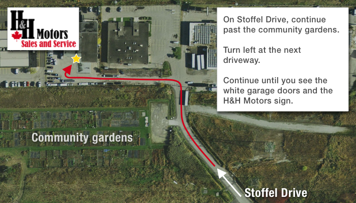 Directions to the new H&H Motors location